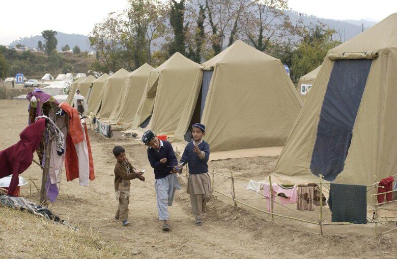 Shinkiari Afghan refugee camp in Pakistan